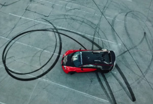 Bugatti Veyron RWD conversion doing donuts