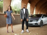 Emily Ratajkowski and Odell Beckham Jr. in a scene from Buick's Super Bowl 50 spot