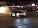 C7 Chevrolet Corvette Z06 moments before crash
