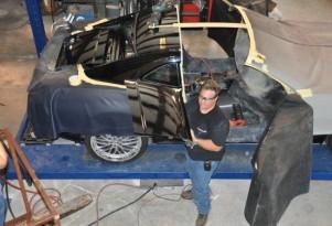 Drop Top Customs Building Camaro T-Top Model