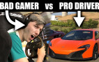 Can a bad video gamer beat a professional driver?