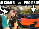 Can a bad video gamer beat a pro driver?