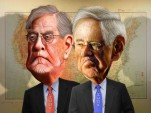 Charles and David Koch, The Koch Brothers (work via DonkeyHotey on Flickr)