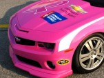 Pink Camaro NASCAR Pace Car helping support the American Cancer Society