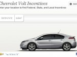 Chevy Volt Incentive Tool