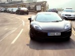 Chris Harris, cruising the high street in McLaren's MP4-12C.