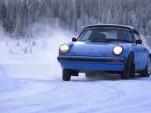 Chris Harris demonstrates oversteer in a Porsche 911 on ice