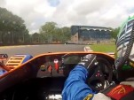 Chris Harris races Andy Green in a pair of Radical SR3s