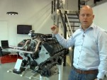 Christian Von Koenigsegg, with his company's 5.0-liter V-8 engine