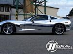 Chrome Corvette wrap by Tintek.