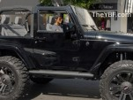 Ciara in a Jeep Wrangler