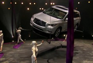 Cirque du Soleil and the 2013 Infinti JX crossover.