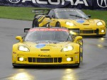 Corvette Racing's C6.R in the rain at MId-Ohio Sports Car Course Photo: Anne Proffit