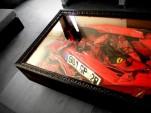 Crashed Ferrari coffee table. Image: Charly Molinelli