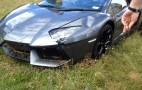 Lamborghini Aventador Crashes Through Fence, Ends Up On Farm