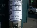 Crosswalk sign hack by Ryan Laughlin