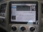 Custom dash installation of the Apple iPad in a Toyota Tacoma