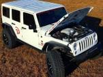 Dakota Customs' Jeep Wrangler Unlimited with supercharged 6.2-liter V-8 Hellcat engine