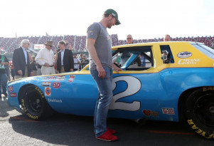 Dale Earnhardt Jr. receives his father Monte Carlo stock car Photo: Amy Earnhardt