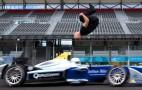 Man completes blind backflip over speeding Formula E racer
