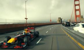 Daniel Ricciardo takes an American road trip in his Formula 1 race car