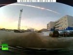Dashboard camera footage of a meteor exploding over Russia, 2-15-2013