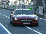 David Coulthard drives the 2013 Mercedes-Benz SLS AMG GT on track