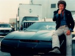 David Hasselhoff and KITT from Knight Rider