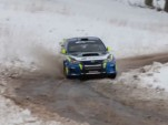 David Higgins practices his winter driving skills in the Sno*Drift Rally