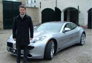 Denmark Crown Prince Frederik and Fisker Karma