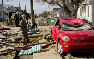 Thousands Of Vehicles Ruined By Hurricane Sandy Sit On New York Airfield