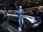 Dieter Zetsche during Mercedes-Benz Generation EQ concept launch at the 2016 Paris auto show