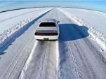 Dodge Challenger Hellcat set ice speed record