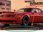 Dodge Demon Twitter ad with electric-car disclaimer