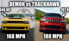 Dodge Demon vs Jeep Grand Cherokee Trackhawk