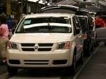Dodge Grand Caravan construction at the Windsor plant