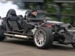 Dodge Viper burnout minus the body