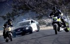 Drifting Mustang Cop Car Versus Drifting Bikes, We All Win: Video