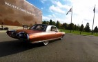 Driving a Chrysler Turbine Car is a view of the future from 1962