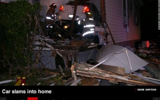 Video: Drunk Driver Confused, Plows Into Wrong House