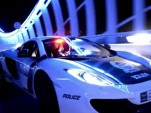 Dubai shows off its police fleet at night