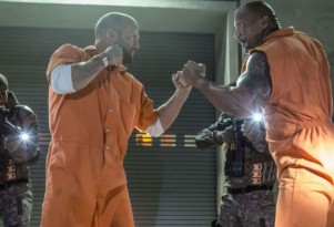 Dwayne Johnson and Jason Statham in 'The Fate of the Furious'