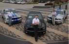 Carl Edwards, Matt Kenseth and Greg Biffle pick up their new Shelby GT500KR's