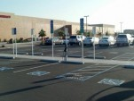 Electric-car charging stations at Target in Fremont, CA [photo by Jack Brown]