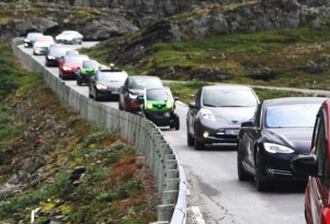 Half of all new cars sold in Norway last year are electric or hybrid, as diesel ebbs fast
