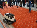 Electric sidewalk delivery robot from Starship Technologies at 2017 Washington DC Auto Show