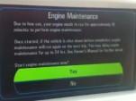 Engine Maintenance Mode screen on 2011 Chevrolet Volt
