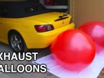 Engineering Explained uses balloons and a Honda S2000 to demonstrate engine air flow