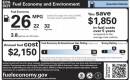 EPA gas-mileage label (window sticker), design used starting in model year 2013