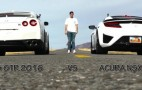 After defeating an Aventador, Acura NSX faces off against the GT-R